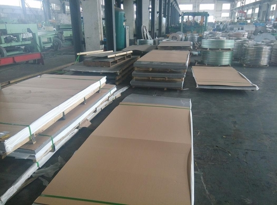 Cina 202 Cold Rolled Stock Sheet Stainless Steel 2B Permukaan 0,5 - 3mm Tebal 1219x2438mm pemasok
