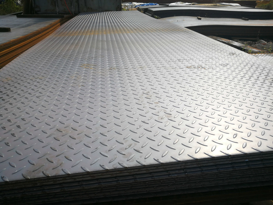 ASTM A36 Chequered Carbon Steel Plate ASTM B209 Tebal 2mm - 100 Mm