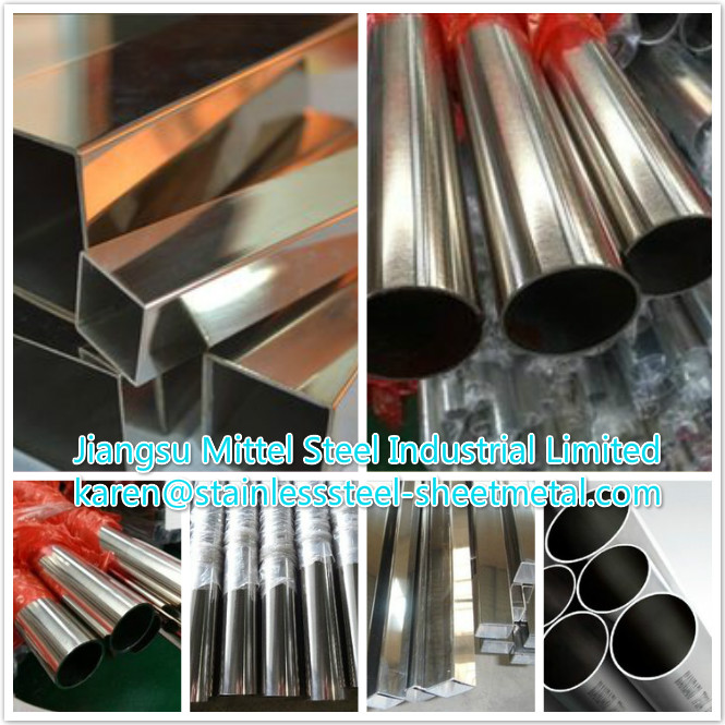 Welded Type and Spiral Welded Welding Line Type Stainless Steel Pipe