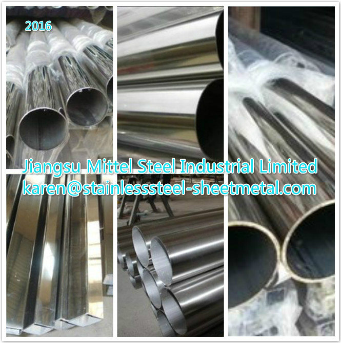 Welded Sanitary 304 316L Stainless Steel Pipe / Tube Not Perforated For Decoration