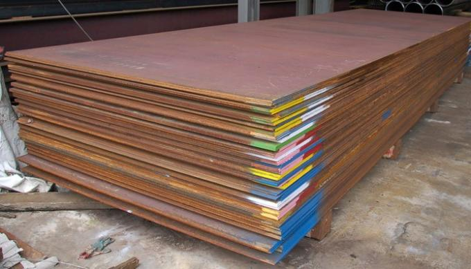 ASTM 12mm A606M High Carbon Steel Plate For Railway Carriage , 3000-18000MM Length